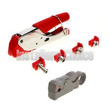 Compression Tool Set F BNC RCA RG6 RG59 Connector Cable Coax Stripper Crimper