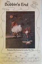 "Bobbin'S End ""Bessie Buttons & Culy Ho Ho"" Vintage Santa & Doll Patterns"