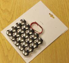 PEUGEOT 107 207 307 308 407 SMOKE NICKEL WHEEL NUT BOLT COVERS CAPS 17mm x 20