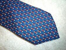 Vineyard Vines Navy Anchor & Ribbon Pattern Print Silk Tie NWT $85 Made in USA