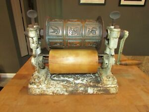 ANTIQUE RAPID CAKE ROLLER CO CANDY PRESS CAKE COOKIE CINCINNATI OH COPPER WHEEL