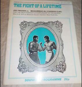 Joe Frazier Muhammad Ali   U.K. Boxing Program March 8, 1971