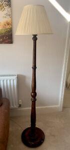 Old Antique Oak Standard Lamp