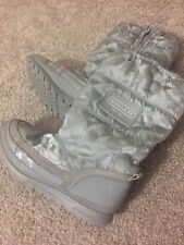 COACH Snowboots Womens Size 6 Gray GENTLY USED