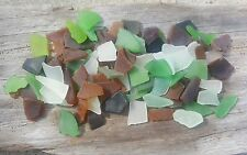110 Genuine Surf Tumbled Beach Sea glass Small/Mini Mixed Colors Mosaics,Crafts