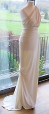 Vera Wang ivory white wedding evening gown Grecian goddess dress size XS S