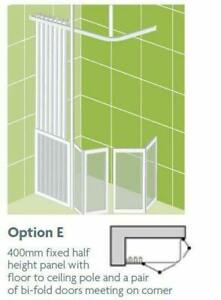 Impey Option E 750mm High Shower Screens
