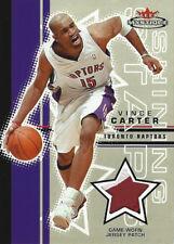 2003-04 VINCE CARTER MYSTIQUE SHINING STARS JERSEY PATCH #9/75 TORONTO RAPTORS
