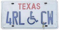 Véritable Plaque D' Immatriculation Etat du TEXAS - USA - License Plate