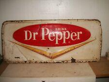 """Old Original G 25 Stamped Tin Dr. Pepper Sign soda pop cola 28"""" X 12"""""""