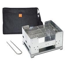 Esbit Klappbarer Kohlegrill BBQ300S Holzkohle höhenverstellbar mit Tasche