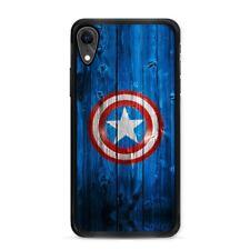 Captain America iPhone XR Case Cap's Shield Wooden Logo The Avengers