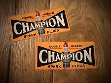 2x Champion Autocollant Sticker züdkerze Spark Old School Vintage Oldtimer #007