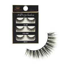 3 Pairs 100% Handmade Manmade Fiber Luxurious Natural Eyelashes Fake Eye Lashes