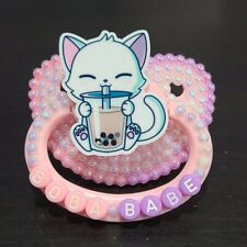"""""""Boba Babe"""" full deco Adult sized pacifier"""