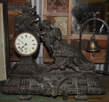 Victorian Era Mantle Clock 37x40x15cm Castiron (not working) - a collectable!