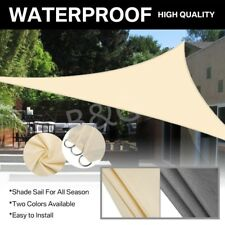 Sun Shade Sail Garden Patio Awning Canopy Sunscreen Cover UV Block Outdoor Ropes