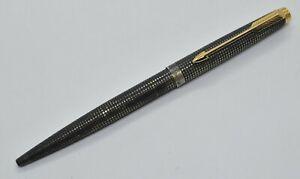 Parker 75 Cisele Sterling Silver & Gold Trim Ballpoint Pen New Old Stock (NOS)