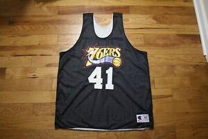 1997-98 Philadelphia 76'ers player used reversible practice jersey size XXL