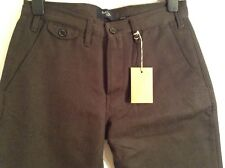BNWT 100% Auth Paul Smith, Mens Grey Wool Tweed Chinos Trousers. 30 RARE !