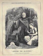 "Punch Cartoon - 1871 - ""ADOLPHE THE ALCHEMIST"""