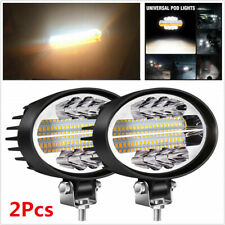 "2x 5"" 144W 7000LM SUV Off-Road Spot Flood Combo Oval Amber Work Light Fog Lights"
