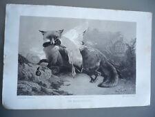 GRAVURE ORIGINALE CHASSE UN MARAUDEUR 1852