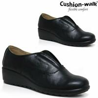Ladies Low Wedge Cushioned Hospital Nurse Shoes Womens Comfy Slip On Work Boots