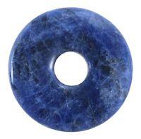 Sodalita Azul Donut Colgante Gema 30mm Piedra de Cristal Pi Curativa