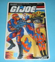 *RECARDED* 1989 GI Joe Cobra Alley Viper Figure Complete *CUSTOM File Card Back