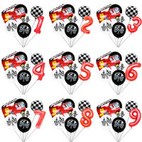 Racing Theme Black And White Gera Flag Balloon Personalized Party Decoration O
