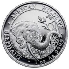 2018 Somalia 1 oz Silver Elephant Sh100 Coin GEM BU SKU49650