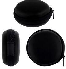 Reino Unido Negro Auriculares de almacenamiento cremallera ligero y duradero Cable Case Nuevo Tapones para los oídos