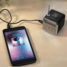 Portable Micro SD TF USB Mini Stereo Speaker Music Player FM Radio PC MP3 /4 Q9