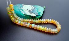 "AAAA+ RARE FACETED WELO OPAL BEADS - BRIGHT NATURAL PIN FIRE - 5.85"" 17.35cts"