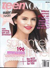 Teen Vogue Magazine Selena Gomez Summer Fashion Elle Fanning Tom Felton 2011