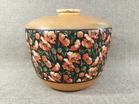 Antique GWTW Glass Ball Parlor Oil Lamp Shade Poppies B&H era