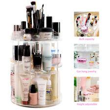 360 Degree Rotating Spin Cosmetic Makeup Organizer Box Storage Rack Case AU