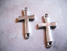 BULK Charms Cross Charms Antiqued Silver Wholesale Charms 50 pieces Connectors