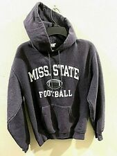 Elephant Gray Mississippi State Bulldogs Sweatshirt Hoodie  Large Sewn Letters