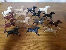 Vintage Plastic Horses Lot Of 15