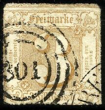 THURN UND TAXIS, 3 SILBERGROSCHEN, 1865, MICHEL # 40, RING CANCELLATION # 301