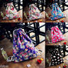 Women Backpack Floral Cat  Butterfly Canvas Backpack Drawstring Backpack Bookbag