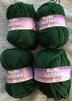 Lot of 4 Green Worsted  Weight Knitting Yarn 4 Ply 4 oz.each