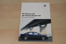 68007) VW Passat + Variant Business Paket Prospekt 10/2003