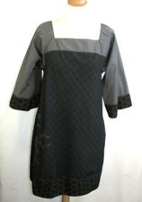 COP COPINE - DRESS SLEEVES KIMONO MODEL CANELLE GREY & BROWN T 40 - LIKE NEW