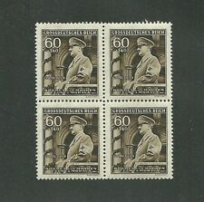 MNH stamp block / Adolph Hitler / 1944  Issue / 60 + 1.40 / Nazi occupation