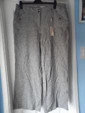 Bnwt new soon @ matalan linen blend blueish grey pinstripe trousers size 18