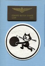 BUTCH O'HARE VF-3 TOMCATTERS FELIX F4F WILDCAT US NAVY WW2 Squadron Patch + Name