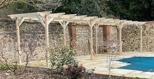 Garden Wooden Pergola Kit - Exclusive Pergola Range - 5 Designs - 42 Size Kits